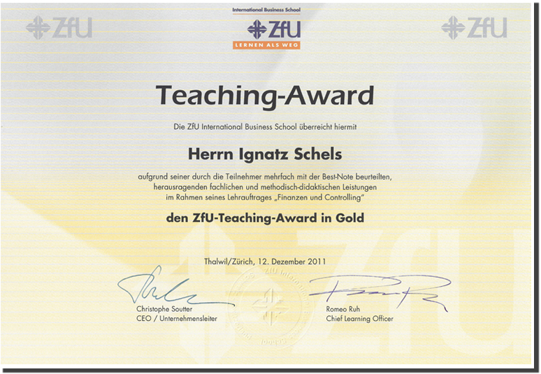 ZFU Teaching Award 2011